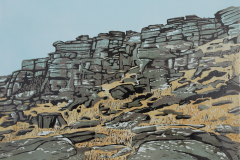 Stanage-Tower-face-Linocut-
